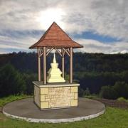 Stupa-in-Landschaft