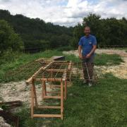 rebar for the foundation slab