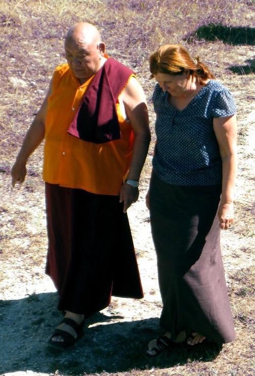 Beru Khyentse Rinpoche with Lama Walli